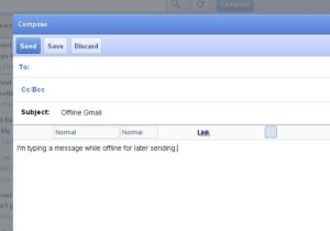 Compose email in Offline Google Mail