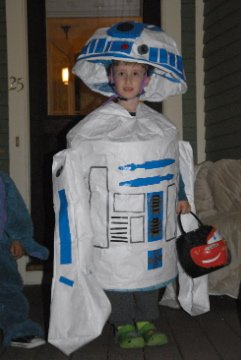 Home-made R2D2 costumes for kids