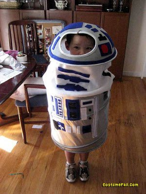 Laundry Hamper R2D2 costume